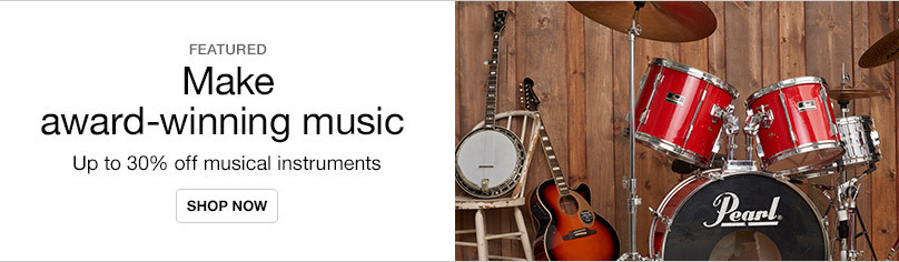 Musical Instruments and Gear Up To 30% Off