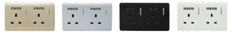 New USB Double Plug Socket