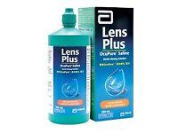 3 Bottles of Lens Plus Ocupure Saline Solution 360ml