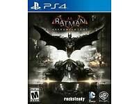 batman Arkham Knight on the Playstation 4 / mint like new / cash or swaps