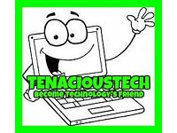 TenaciousTech- Virus removal|PC Clearout (inside and out)|How to setup/use your PC|