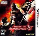 Nintendo Resident Evil: The Mercenaries 3D Video Games