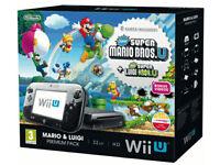 Black Wii U Mario and Luigi Premium Pack + 19 games