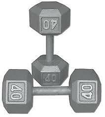 Hex Dumbells - 40 & 45 lbs