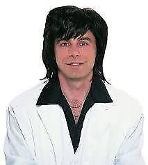 60S /70S BLACK FANCY DRESS WIG MAYBE AUSTIN POWERS GREAT FOR PARTY OR STAG DO
