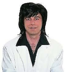 60S /70S BLACK FANCY DRESS WIG GREAT FOR A PARTY OR STAG DO