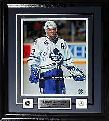Signed Framed Doug Gilmour Autographed Certificate & Seal