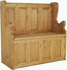 pine church pew antiques ebay. Black Bedroom Furniture Sets. Home Design Ideas