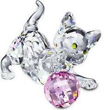 SWAROVSKI  *  kITTEN sTANDING pLAYING wITH pINK bALL  * Acacia Gardens Blacktown Area Preview