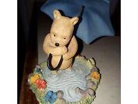 Pooh With Umbrella Figure