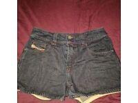 Diesel jeans shorts, size 29