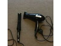 Babybliss flat iron and hairdryer