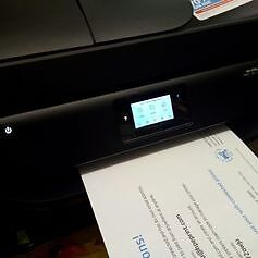 Hp officejet 4650 printer, copier, scanner, edf, email, web working with hp warranty