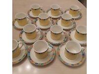 Villeroy & Boch Coffee/Tea cup & Saucer x12