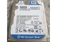 WD 500gb Laptop hard drive