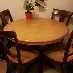 real wood dinning table and chairs for sale - bargain price