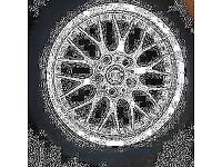 BMW BBS RS740 STYLE42 GENIUE 1094377 5x120 STUD PATTERN,ONE SINGLE ALLOY