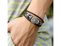 Men's Leather Bracelet only £3