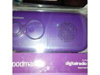 goodmans dab radio new in box its purple stylish radio nice