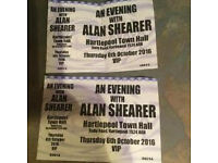 2 VIP tickets Meet and Greet Alan Shearer