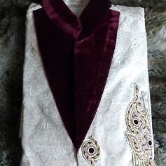 Mens Asian Indian Wedding Suit Sherwani Kurta