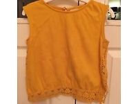 Zara Girl's Gold/Yellow Top 6 Yrs