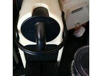 Neppresso coffee machine in cream immaculate condition