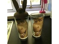 Disney Donkey cup used plus spare
