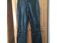 Ladies leather trousers size 16