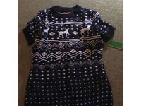 Christmas Jumper Dress - Medium