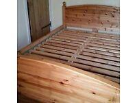 King size Ikea pine Dokka bed frame