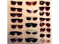 Sunglasses. Various mens/womens, 21 pairs, all in good order.