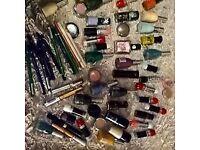 joblot of 64 new makeup items,nail polishes,lipsticks ect