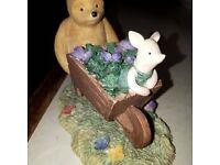 Pooh & Piglet In A Wheelbarrow Figure