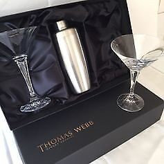 NEW & boxed - 2 cocktail glasses & shaker , by Thomas Webb