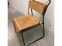 Vintage School Chair Cafe Industrial stacking