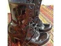 Dr. Martens high heel ankle boots