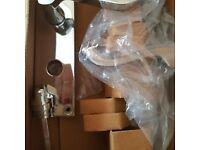 Bathroom Door Handle with Locking Mechanism - Brand new in Box