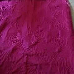 1 Pair Full Length Thermal quilted Curtains - Cerise Colour 210 X 115cm