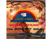 Super soft large thick blanket new