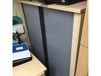 Light Wood Effect Office Cupboard