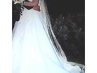 omanda wedding dress and veil