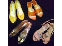 Vintage, real leather shoes, sizes 3 & 4.
