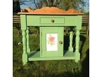 Solid Pine Victorian Farmhouse Bedroom Wash Stand