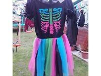 Skeleton dress age 8 worn once
