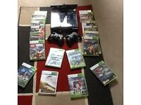 Xbox 360 Slim with Kinect and two controllers 250GB