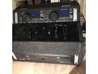 TWIN CD MIXER - With Case and cables