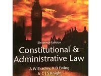 BOOK Constitutional and Administrative Law by A W Bradley, K D Ewing and C J S Knight