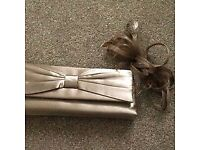 Fascinator and matching clutch