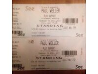 2 x PAUL WELLER gig tickets at Rivermead in Reading tonight 13th April 2017 OFFERS PLEASE!